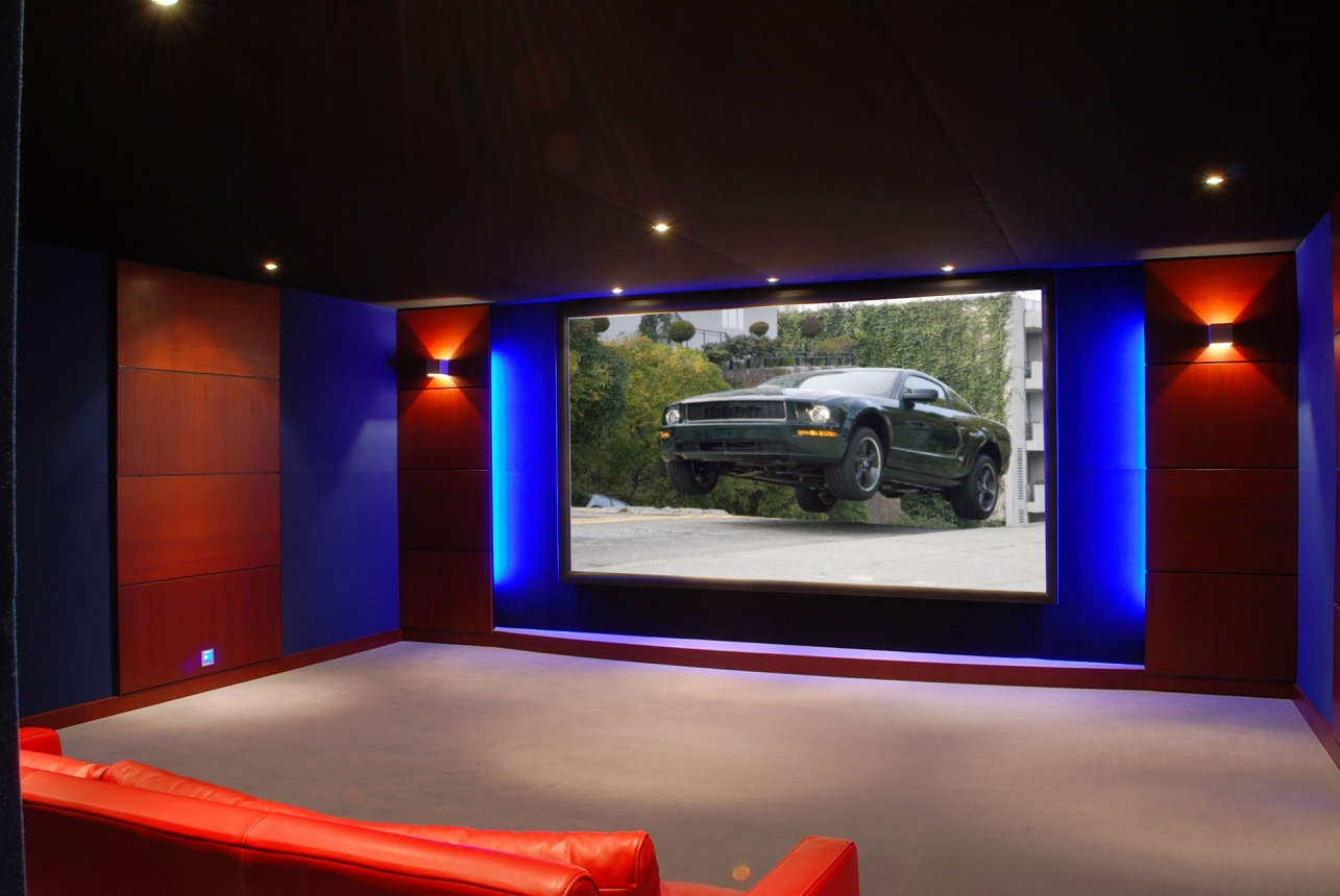 Cin concept galerie photos home cin ma vid o projection traitement sonore - Home cinema salle dediee ...